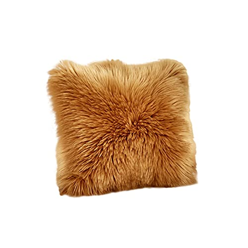 Anwangda Funda de cojín de felpa suave, funda de almohada cuadrada, fundas de cojín decorativas para sofá, cama, banco, 50 x 50 cm