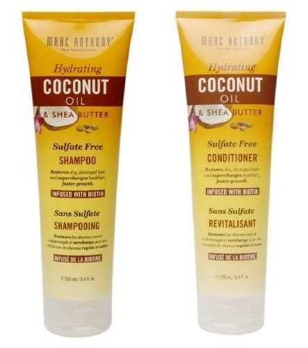 Marc Anthony True Professional Hydrating Coconut Oil & Shea Butter (Shampoo & Conditioner Set) 8 Oz Shea Butter Shampoo