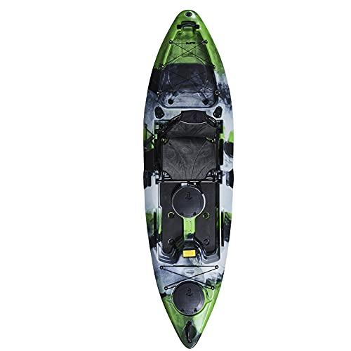 WEUN 306 * 84 * 28 cm Kayak, Kayak Juvenil Kayak Balsa de Pesca Portátil Kayak Inflable con la Bomba de Aire Rope Paddle 2,3 o 4 Personas Barco para Adultos y niños
