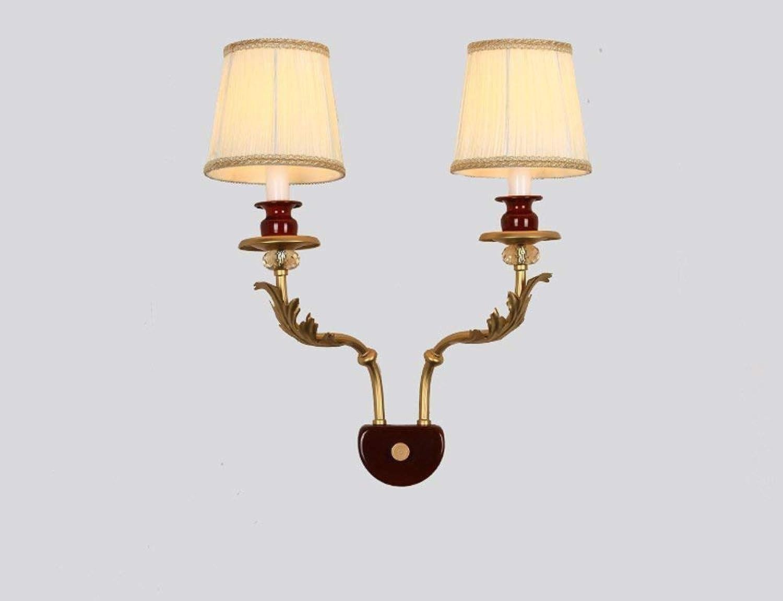 HhGold Die Schlafzimmer-Bett-doppelkpfige Gemeinschaften starten einfachen Flur-Wand-Lampen-Stoff (Gre  470  400Mm) (Farbe   470  400mm)