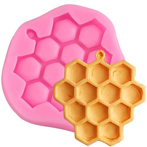 CSCZL 1 Pièce DIY Cuisine Nid d'abeille Moule en Silicone Moule Fondant Gâteau Au Chocolat Bonbons Biscuit Sucre Moule Accessoires De Cuisine