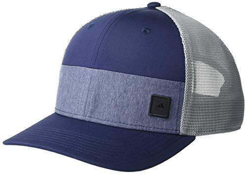 adidas - Gorro de Camionero para Hombre, Sombrero de Camionero Bloqueado, Hombre, Color Azul Marino, tamaño Talla única