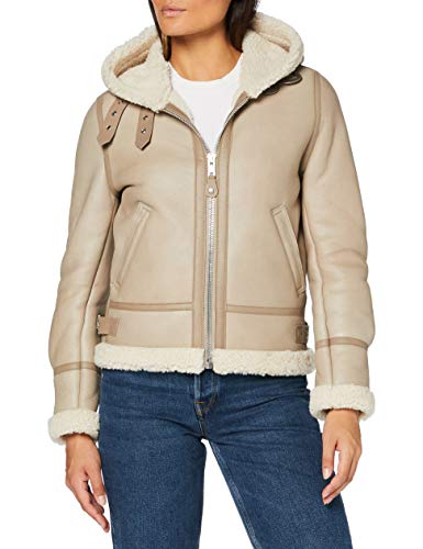 Schott NYC Lcw1257h Giacca di Pelle, Lt.Beige, XX-Large Donna