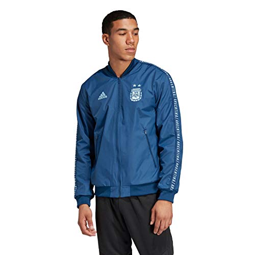adidas Men's AFA Anthem Jacket (Medium) Blue Unity/Lite Aqua