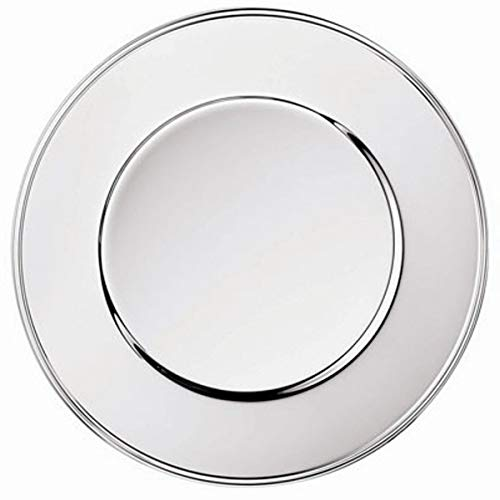 Silberkanne - Sottopiatto da 33 cm, motivo a fili argentati, colore: Argento