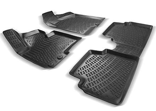 Elmasline Design 3D Gummimatten Set für Hyundai i20 II Baujahr ab 2014   Extra hoher 5cm Rand