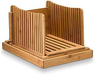 Trancheuse à Pain en Bambou de Cuisine, Machine à Pain avec épaisseur réglable, 3 épaisseurs différentes, avec Plateau à m...