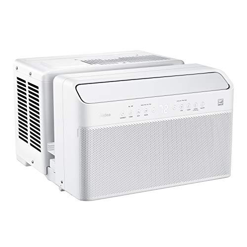 Midea U Inverter Window Air Conditioner 8,000BTU, U-Shaped AC with Open Window Flexibility, Robust Installation,Extreme Quiet, 35% Energy Saving, Smart Control, Alexa, Remote, Bracket Included