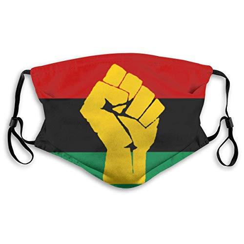Black Power Pan African Flag Herren und Damen Filter verstellbare Masken