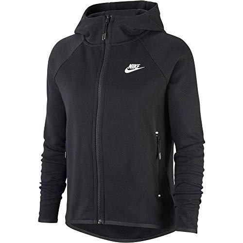 Nike Damen W NSW TCH FLC Cape Sweatshirt, Black/Black/(White), M