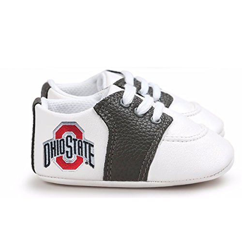 Future Tailgater Ohio State Buckeye Pre-Walker Baby Shoes -Black Trim (0-6 Months)