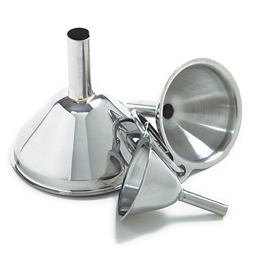 Stainless Steel Funnels Set
