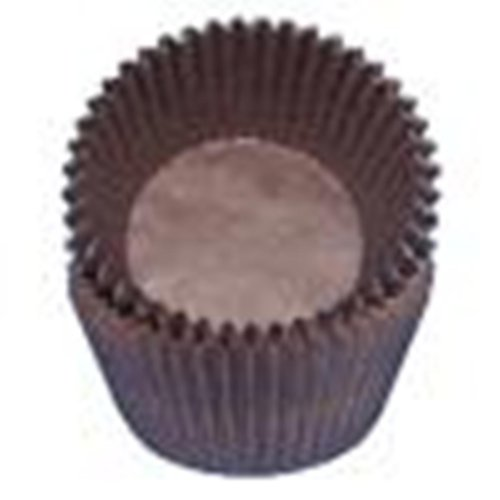 Brown Glassine Cupcake Liners