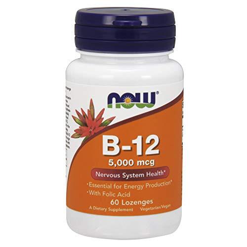 Now Foods La vitamina B-12 con ácido fólico, 5000mcg - 60 pastillas 60 Unidades 40 g