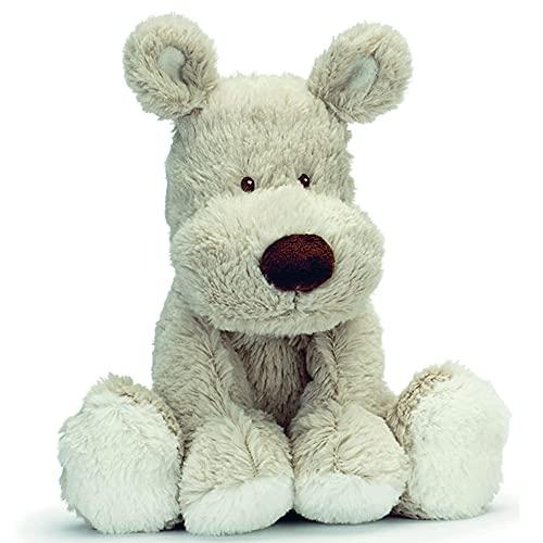 Teddykompaniet Båstad 2091 Kuscheltier Hund Teddy Cream - Teddy Dog Beige 21 cm – Kuscheltier mit herz - Stofftier Baby - Kuscheltuch Teddy für Mädchen und Jungen - Plüschtiere Hund extra weich