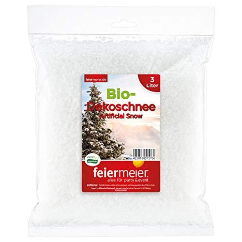 feiermeier Schnee im Beutel 3Liter Dekoschnee Bio biologisch abbaubar sehr ergiebig Modelleisenbahn Basteln