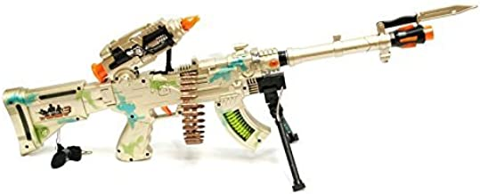 LilPals 27 Inch Rapid Fire Burning Spin 3 Toy Rifle - Machine Gun with Dazzling Electric Light, Amazing Electronic Sound & Unique Action Manufacturer