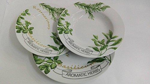 Service d'assiettes pour six 18 pièces en porcelaine décoré – aromatic Herbs