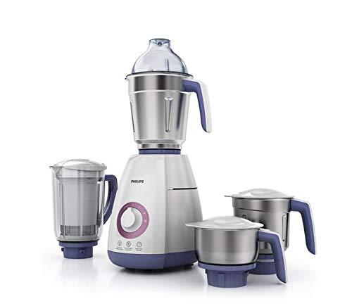 Philips Viva Collection HL7701/00 750-Watt Mixer Grinder with 4 Jars (Elegant Lavender...