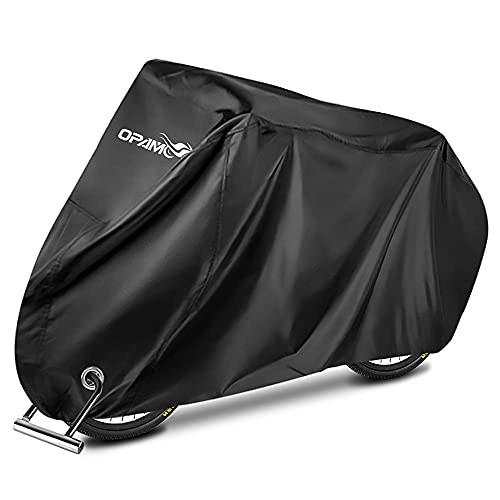 OPAMOO Bike Bicycle Cover Outdoor Waterproof - Bicycle Rain Covers Sun UV Dust Wind Proof with Lock Hole for Mountain Road Electric Bike