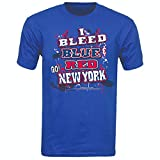 New York Hockey I Bleed Blue and Red Go New York! Blue T-Shirt| Size| Large
