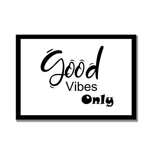TattyaKoushi Wood Framed Farmhouse Decor Signs Rustic Wall Hanging Art with Quote Good Vibes Only 2, Good Vibes Only 2 Print,Good Vibes Only 2 Poster,12 x 22 Inch