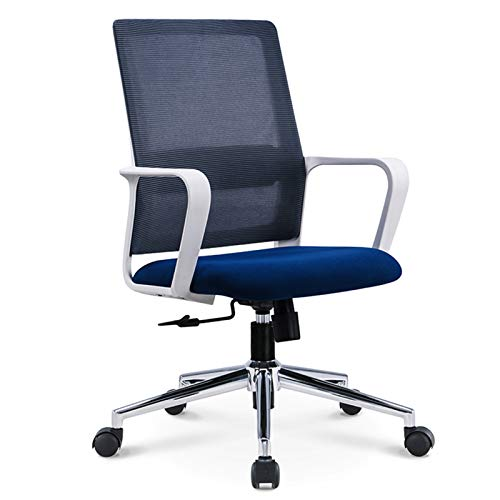 DXZ-Design Office Chair Ergonomic Desk Chair Mid Back Modern Computer Chair Task Swivel Chair Mesh Adjustable Chair with Lumbar Support and Armrest