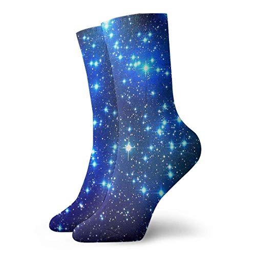Drempad Luxury Calcetines de Deporte Stars and Planets Women & Men Socks Soccer Sock Sport Tube Stockings Length 11.8Inch