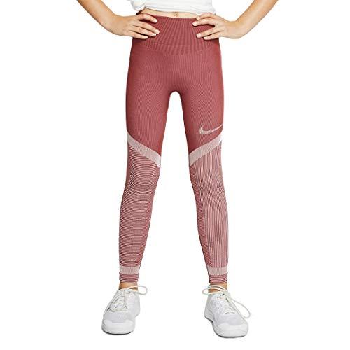 Nike G Nk Fenom Seamless Tight Tp Leggings für Mädchen XS Cedar/Echo pink/Echo pink