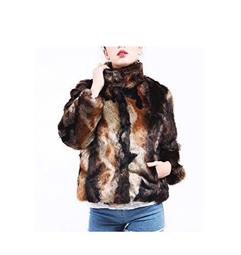 Huaishu Dames Lange Bontjas Slim Mode Faux Bontjas Bovenkleding Winter Overjas