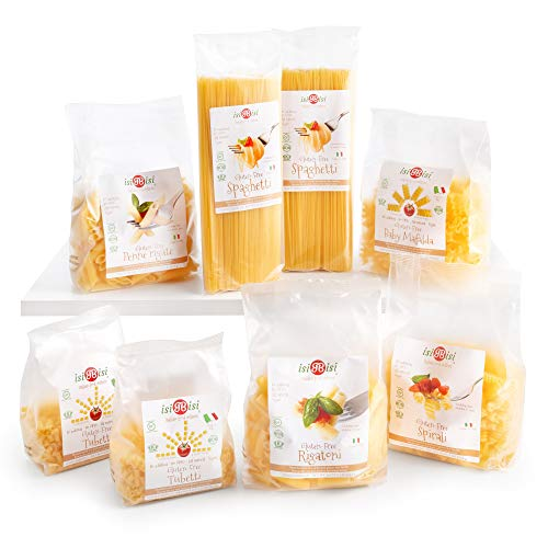 isiBisi Gluten Free Pasta Sampler - Made with Rice and Corn Flour - Quality, Authentic Gluten Free Noodles - Vegan, Non-GMO Bulk Pasta - Made in Italy (6.5 Pound (Pack of 8))