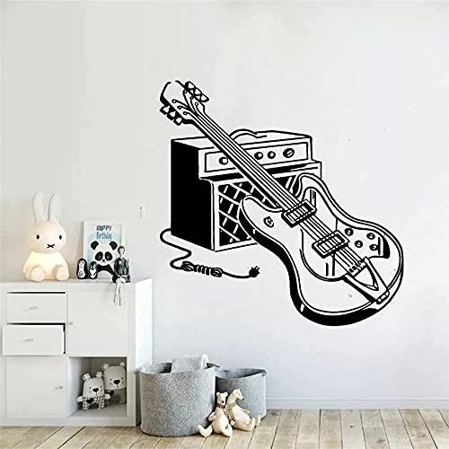 Pegatinas de pared de animales pegatinas de pared guitarra eléctrica bebé colorido...