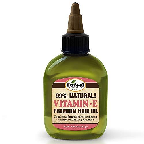 Difeel Premium Natural Hair Oil - Vitamin E Oil 2.5 ounce (6-Pack)