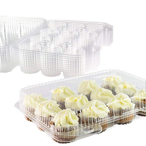 Chefible 12 Mini Cupcake Container, Cupcake Box - Set of 10