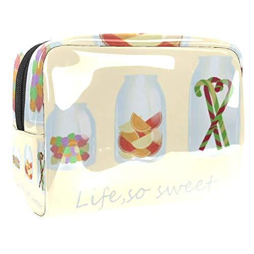 Trousse de toilette portable avec fermeture éclair pour femme - Rangement pratique pour cosmétiques - Life So Sweet