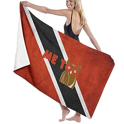 Badetuch mit Vintage-Flagge von Trinidad & Tobago, weich & super saugfähig, geeignet für Hotel, Schwimmbad, Fitnessstudio, Strand