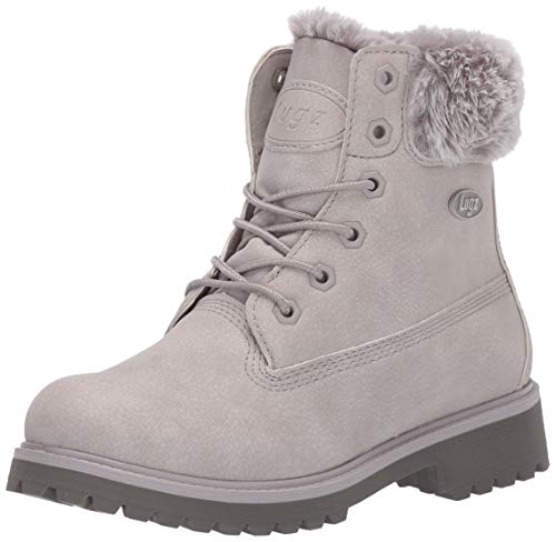 Lugz Women's Convoy Fur Fashion Boot, Glacier/Dark Glacier/Grey, 11 M US