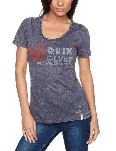 Quiksilver Damen T-Shirt Original Swan Crew, indigo blue, 40-42 (M), KMG01017-