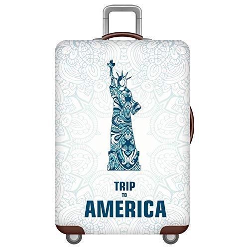Cubierta de Equipaje Funda de Maleta 18-32 Pulgadas,Duradero Protector Lavable Plegable Protector Elástico y Anti-Polvo con Cremallera USA L(Fit 26-28 Inch Luggage)