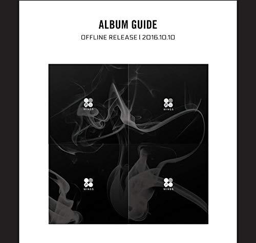 BTS 2nd Album WINGS (Vol.2) [4 sets] CD + Photobook + Folded Poster + Extra Photocard + KPOP Idol Mask (W+I+N+G 4 sets)