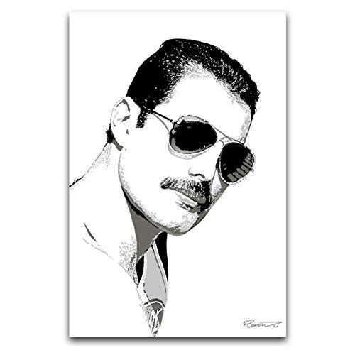 Freddie Mercury Queen Lead Singer - Gafas de sol en blanco y negro