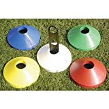 Precision Training 50 x Plastic Space Markers (Size: 200mm (Diameter)) (Colour: Mixed )