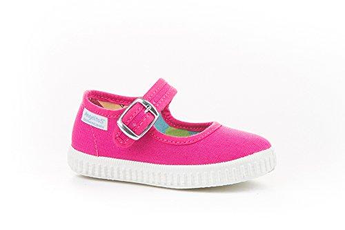 Zapatillas Merceditas de Lona para Niñas, Angelitos mod.123, Calzado Infantil Made in Spain, Garantia de Calidad. (21, Rosa Fucsia)