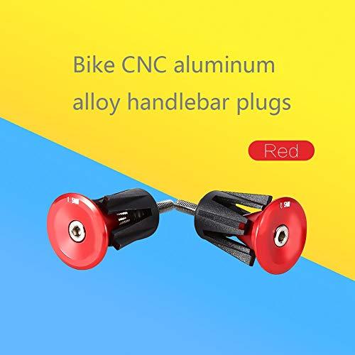 VGEBY1 Fahrrad Lenkerendstopfen, 1 Paar tragbare Aluminium Rennrad Lenkerendkappen für Mountainbikes
