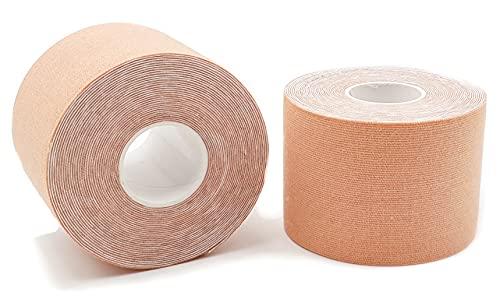 2 cintas kinesiológicas de color piel axion   Vendaje resistente