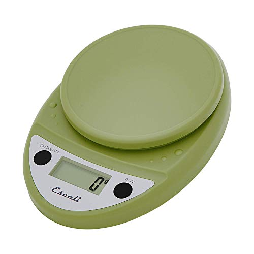 Escali Primo P115TG Precision Kitchen Food Scale for Baking and Cooking, Lightweight and Durable Design, LCD Digital Display, Tarragon Green
