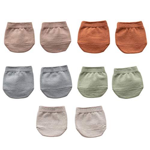 ZOYLINK 5 Pares De Calcetines De Puntera Para Mujer Calcetines Suaves En El Antepié Medias Medias Calcetines Con Agarraderas Calcetines De Algodón Con Puntera
