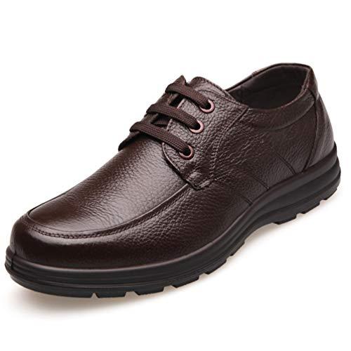 XI-GUA Herren Business Schuhe Bequeme Leder weiche Stadt zu fuß Abnutzung Schuhe