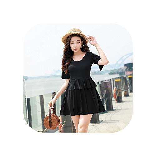 Badeanzug Röcke Für Frauen Plus Size Bademode Einteiliger Badeanzug Übergewichtige Frauen Koreanischer Badeanzug Mit