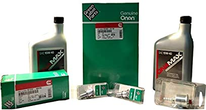 Onan Generator Maintenance Kit For HGJAB Gas Generators (with OIL), Contains 7 items